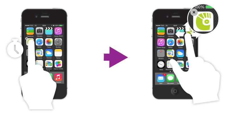 Organizar aplicaciones en el iPhone.