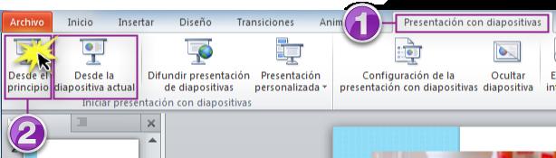 Iniciar una presentación