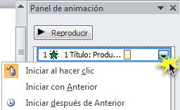 Utilizar el Panel de animación