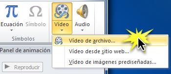 Añadir video desde archivo