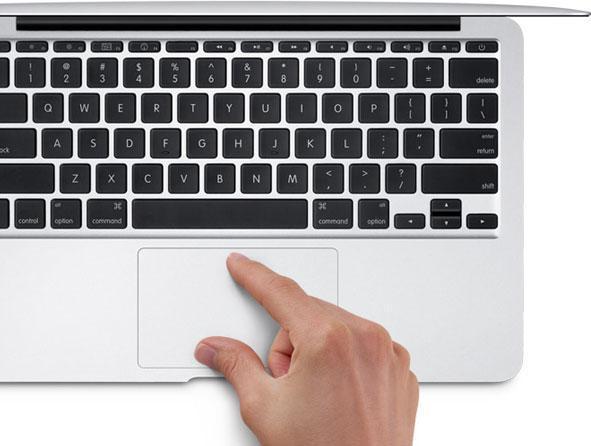 Touchpad de un computador portátil o laptop.