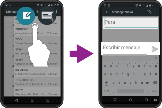 Cómo Usar Android Cómo Enviar Mensajes De Texto