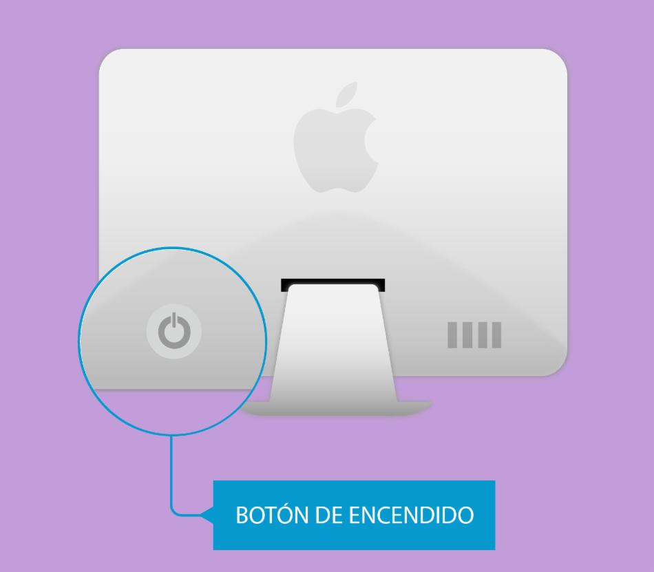 Botón encendido del Mac