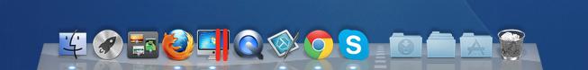 Dock ou barra de programas no sistema operacional Mac OS X