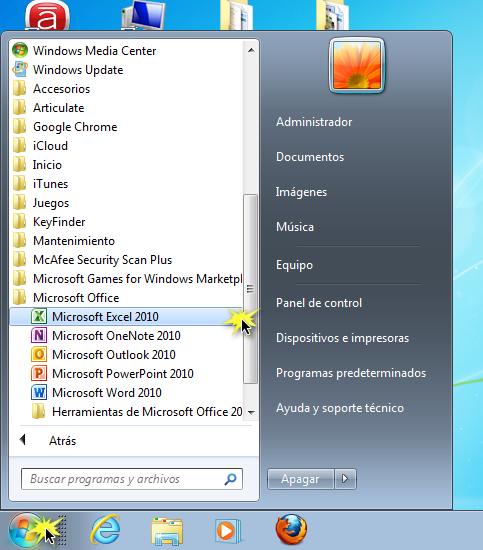 Abrir un programa en un PC