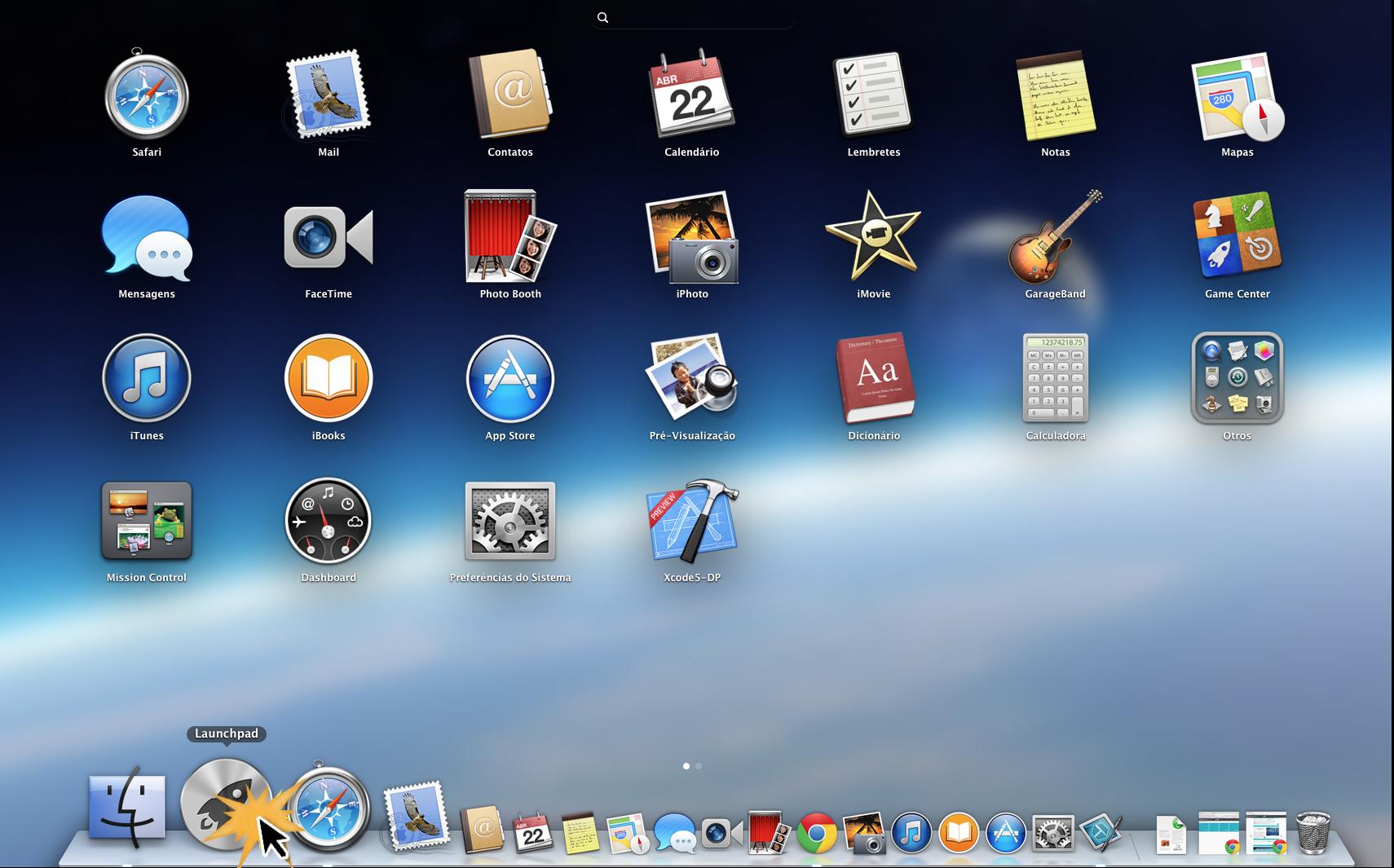 LaunchPad do sistema operacional Mac OS X