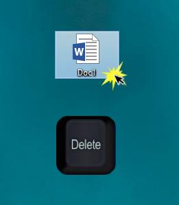 Excluir arquivos no PC usando o teclado