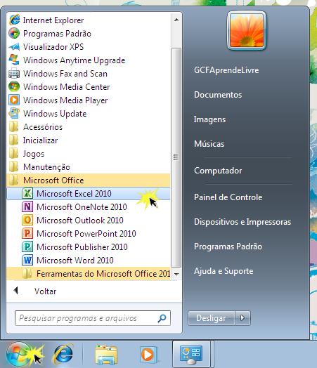 Abrir um programa num PC
