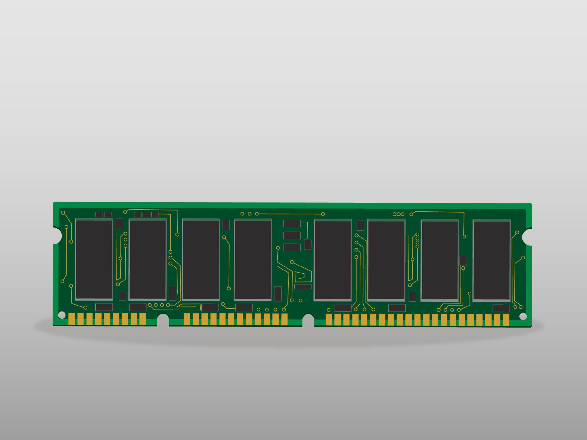 Memoria RAM o de corto plazo para computador de escritorio.