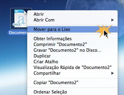 Excluir arquivo no Mac OS X