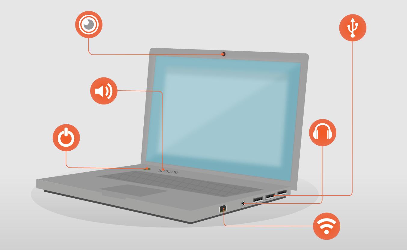 Informática Básica Encender Un Computador Portátil