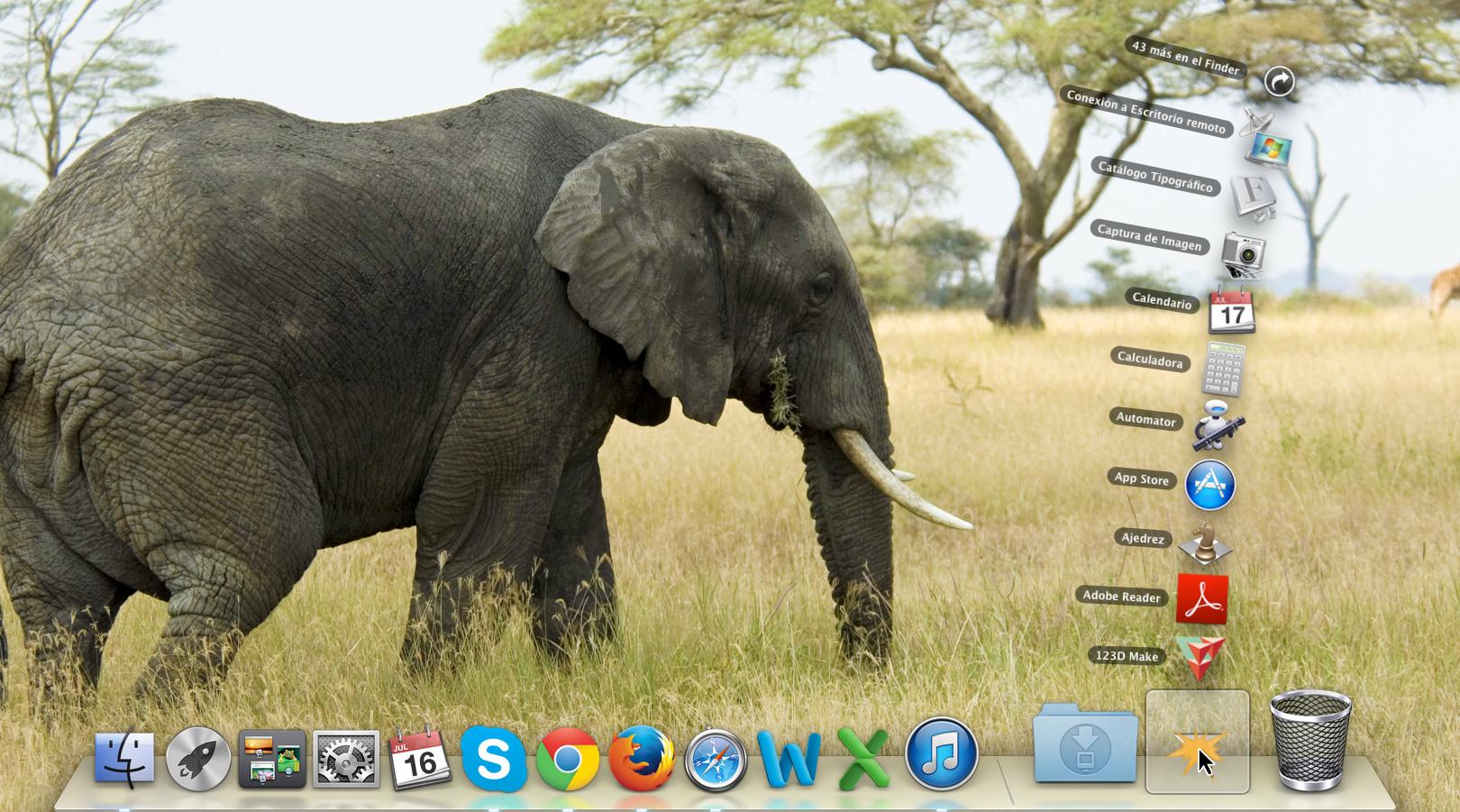 Stacks en el sistema operativo Mac OS X.
