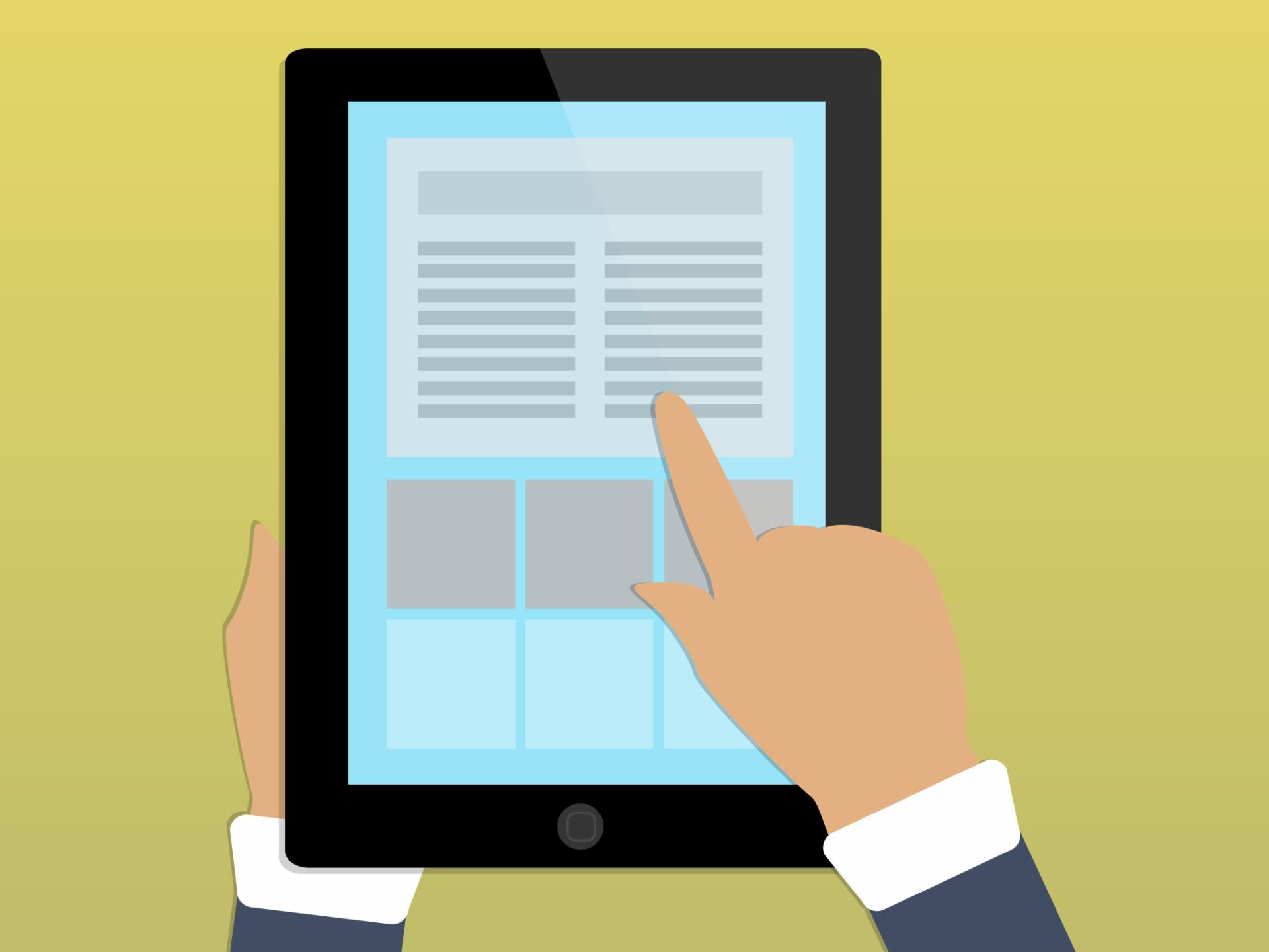 Exemplo de um tablet