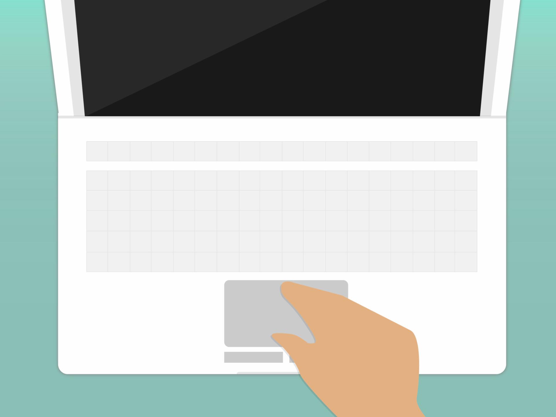 Touchpad como mouse o ratón integrado en un computador portátil.