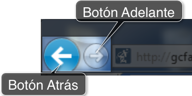 botones de navegación