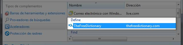 Complemento de diccionario