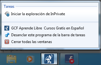 iniciar exploración InPrivate