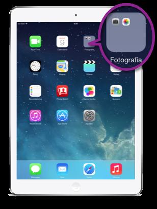 Pantalla y carpetas de iOS