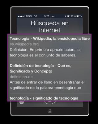 Búsqueda en Siri