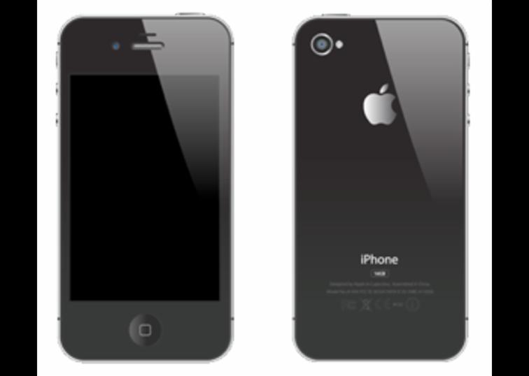 Parte trasera y delantera de un iPhone.