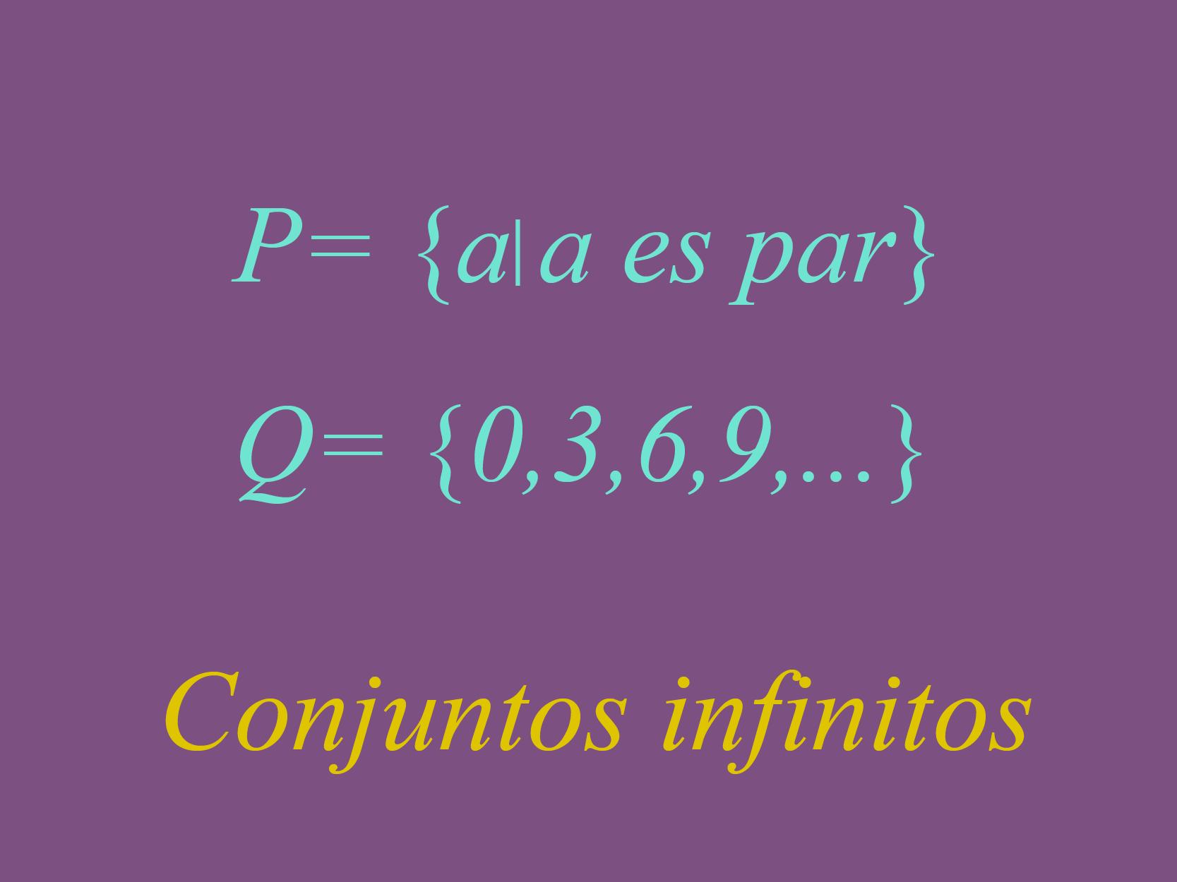 Representación de los conjuntos infinitos