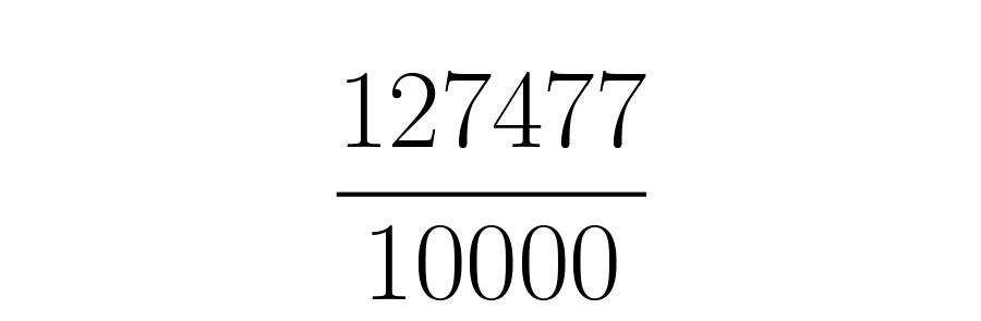 Se divide en un uno seguido de tantos ceros como veces se ha corrido la coma.