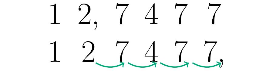 Se corre la coma hacia la derecha hasta que el último número tome la posición de las unidades.