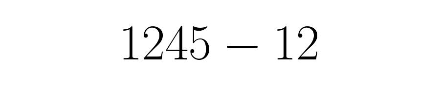 O número decimal escrito sem virgula e sem barra.
