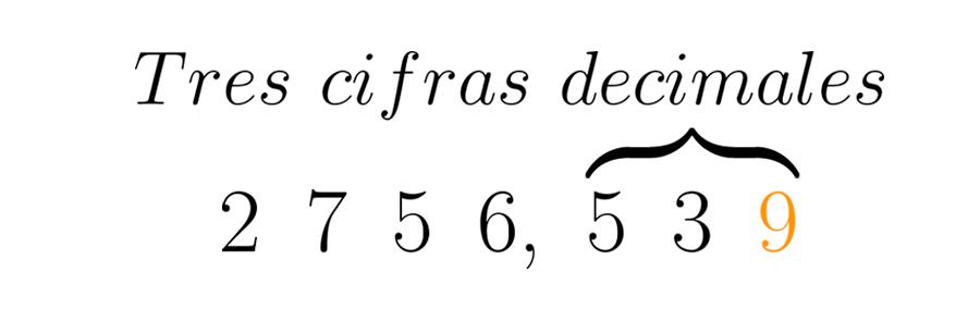 Se transforma la última cifra requerida dependiendo del valor de la siguiente.