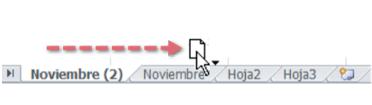 Imagen de cómo mover una hoja de cálculo en Excel 2010.