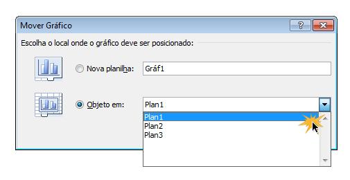 Caixa de diálogo para mover gráfico