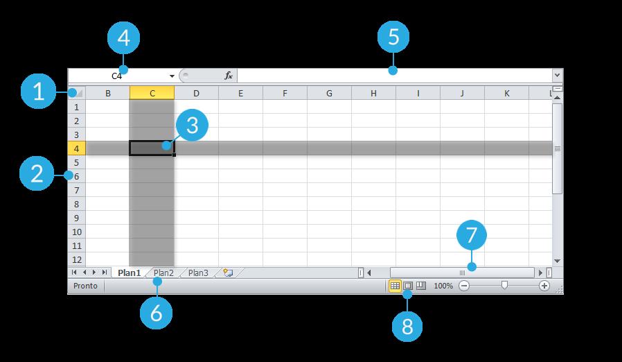 Modelo de interface do Excel