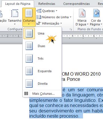 Acrescentar coluna num documento