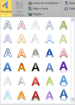 Aplicar WordArt