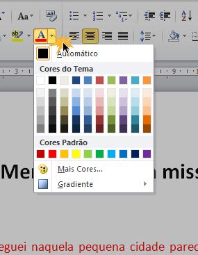 Trocar a cor da letra