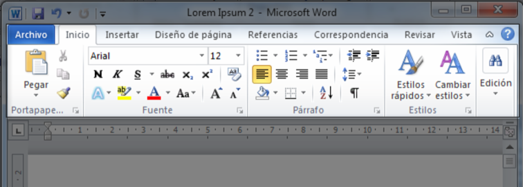 Microsoft Word 2010 Partes De La Interfaz De Word 2010