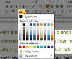 Cambiar el color de la letra