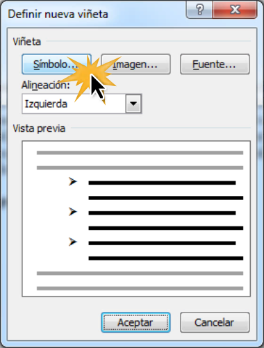 Simbolo Calendario Word.Microsoft Word 2010 Editar Las Vinetas En Word 2010