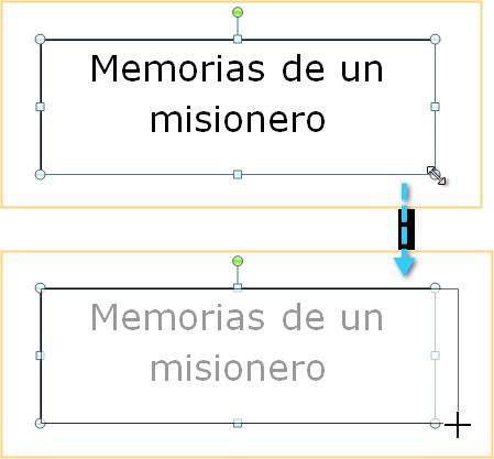 Mover el cuadro de texto