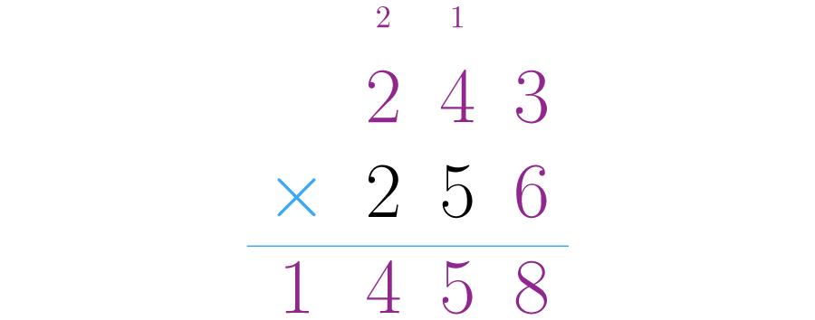 Se multiplican las unidades del segundo factor por el primero.