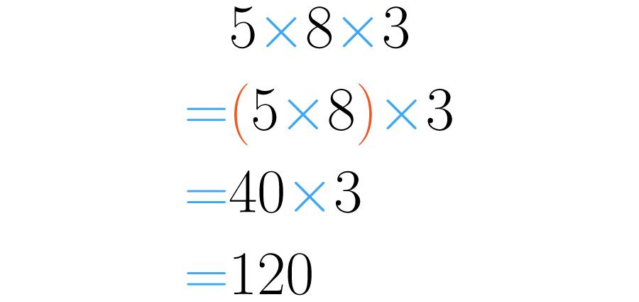 Se asocian los dos primeros números.