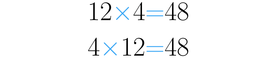 Las multiplicaciones dan lo mismo.