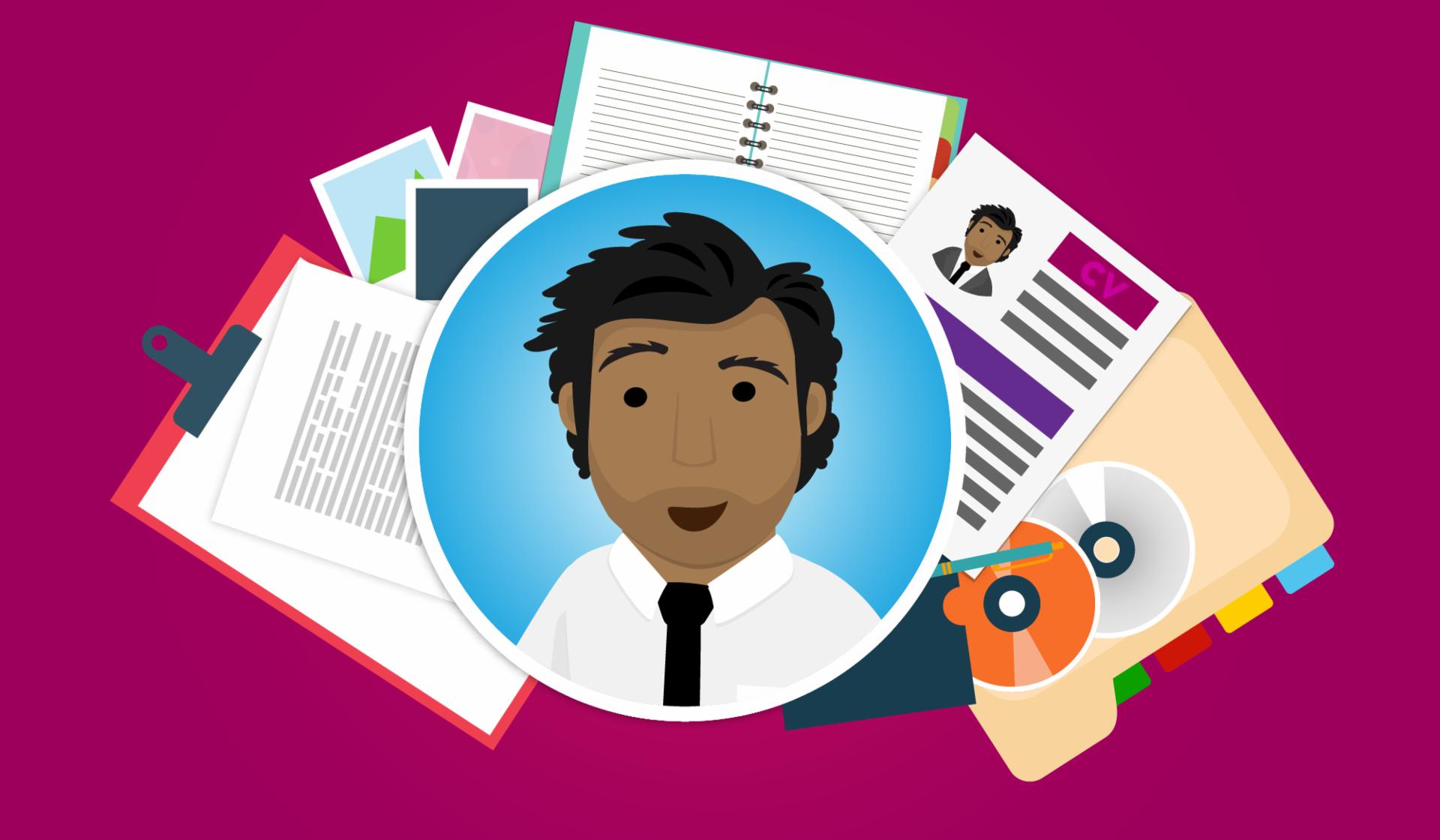 Faça um documento com os trabalhos que você já fez para poder aprensentá-los numa entrevista.