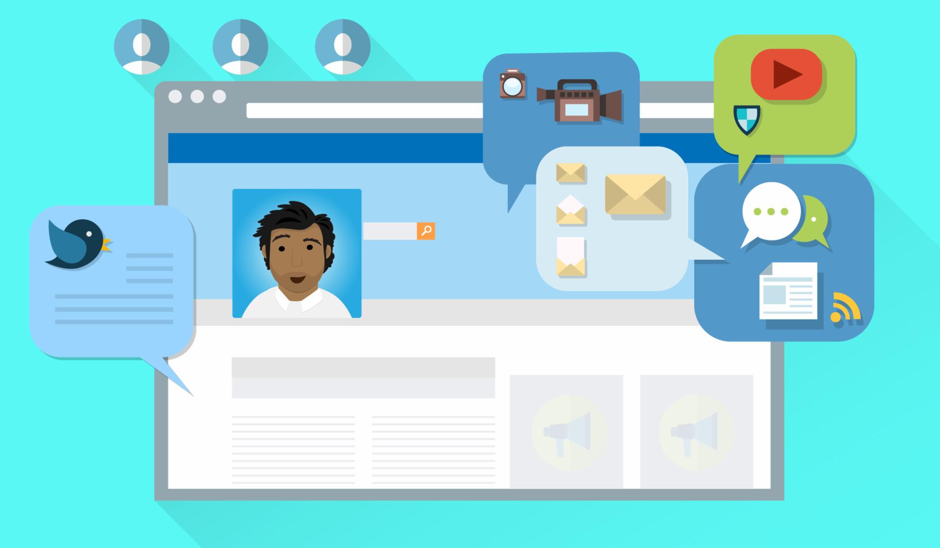 Aproveite as redes sociais para fazer seu trabalho ser conhecido.