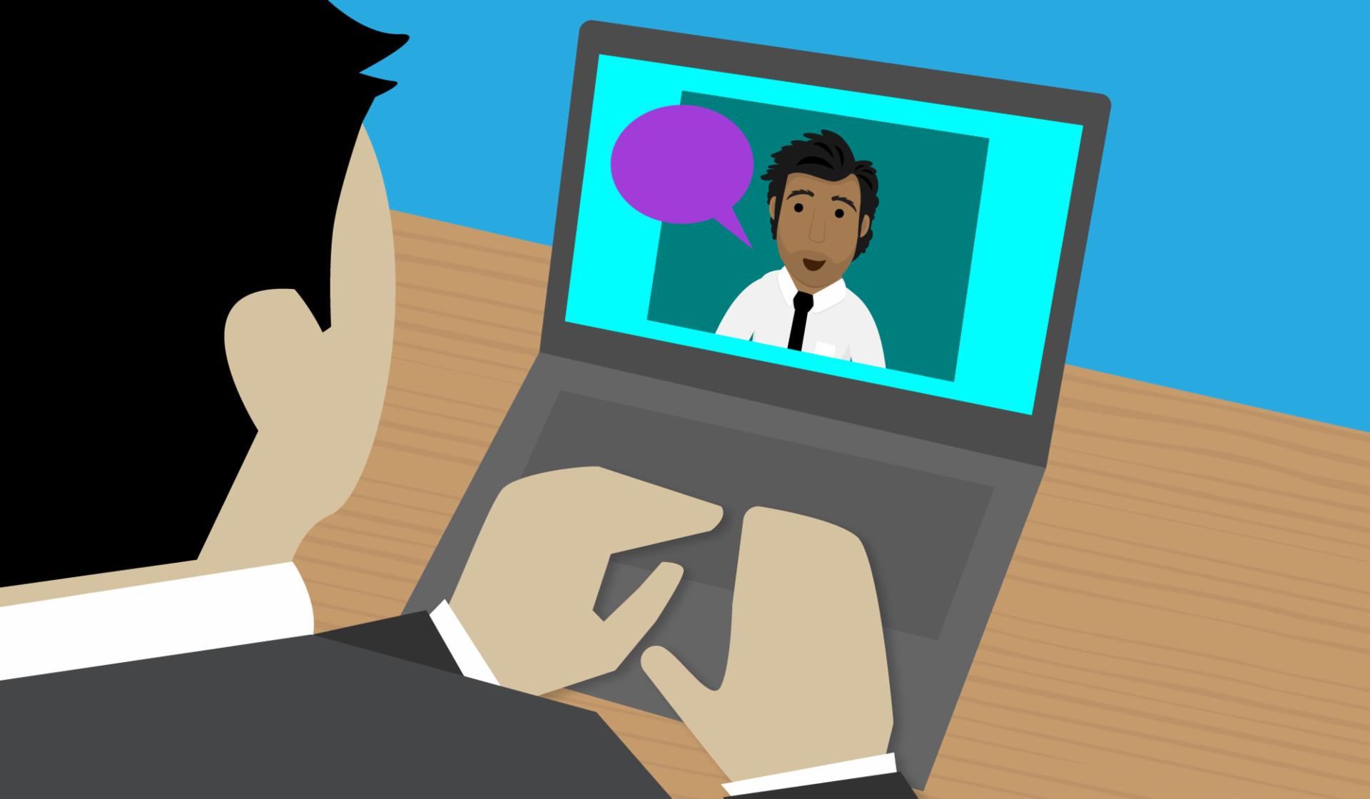 Agora existem muitas alternativas para uma entrevista de trabalho, uma delas é por videoconferência.
