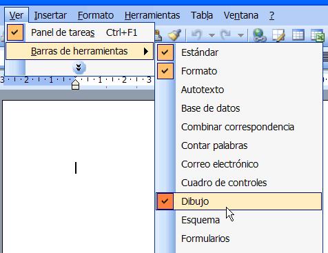 elementos barra herramientas