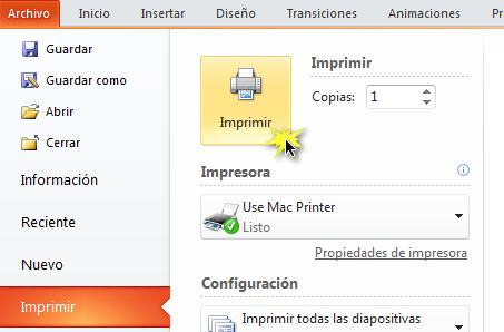 Función Imprimir