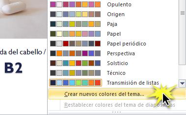 Crear nuevos colores del tema