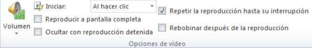 Opciones de video