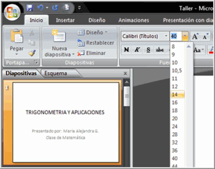 powerpoint 2007 dar formato al texto en powerpoint 2007